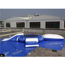 Hot lake used air bouncer inflatable trampoline catapult blob toys inflatable water float,water trampoline