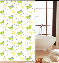 Home butterfly eco-friendly a variety of PEVA shower curtain
