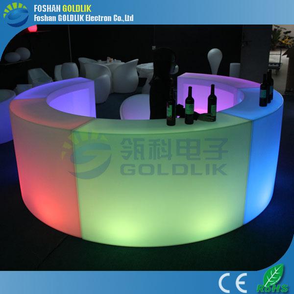rechargeable rvb couleur plastique led meubles lumineux led bar compteur tables en plastique id. Black Bedroom Furniture Sets. Home Design Ideas
