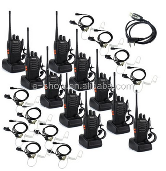 Retevis H777 Walkie Talkie UHF 400-470mHz 2-Way Radio (10 pack)and 10pcs air earpiece hidden +1usb cable