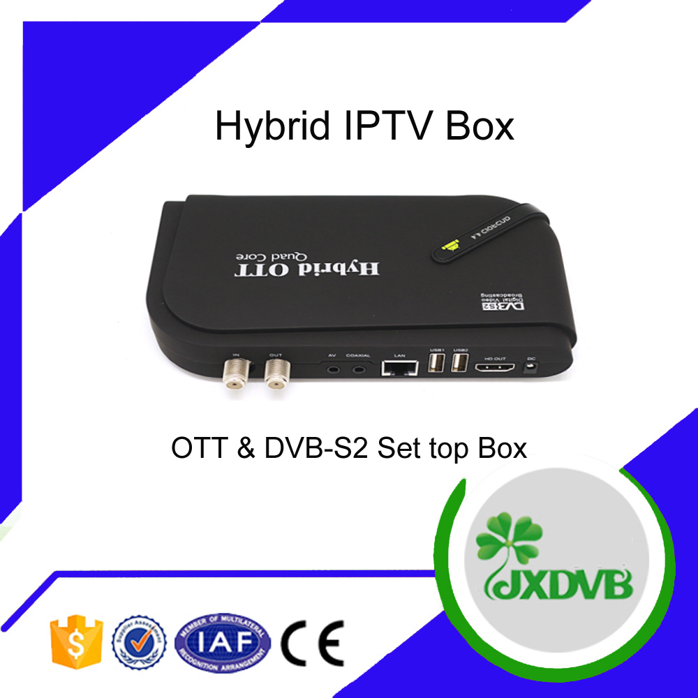 Hybrid 1080P Android TV Box DVB T2