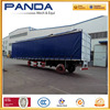 Best 3 axles curtain sider cargo trailer, roll up curtain transport trailer, window curtain semi trailer