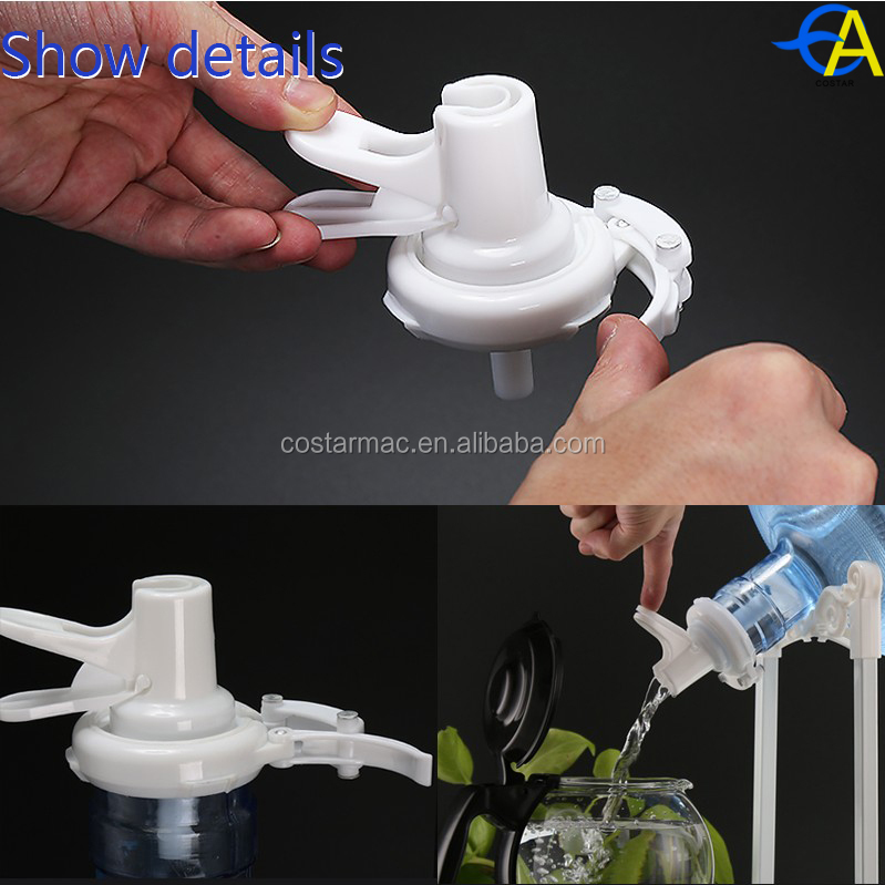 5 gallon barrelled water faucet Plastic water bottle valve snap-oncover cap and screw cap
