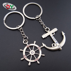 Wholesale personalized custom fashion metal 3d toy car model part shaped logo Anchor Keychain