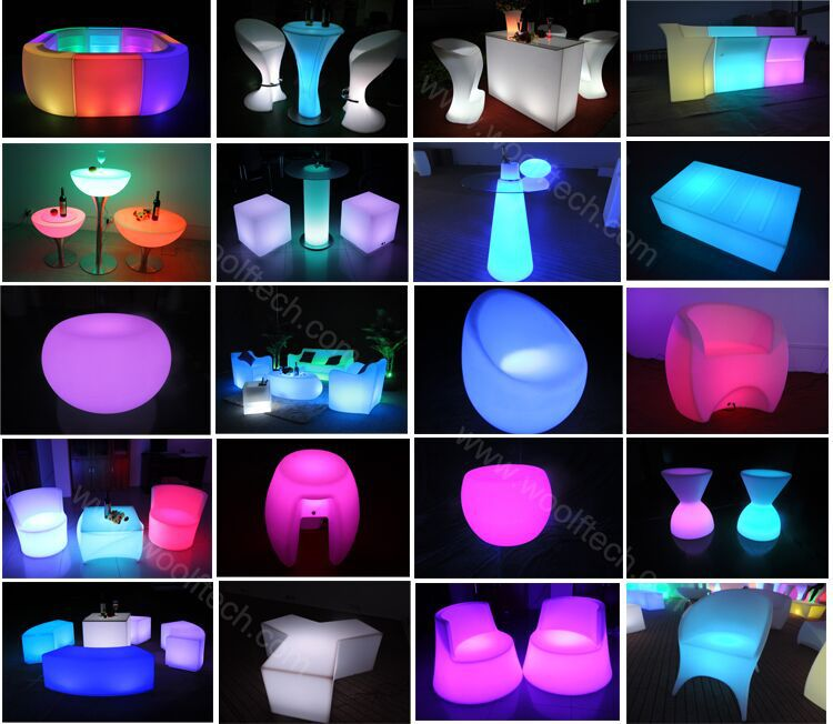 Color Changing Led Table Light Up Furniture Outdoor Bar Counter