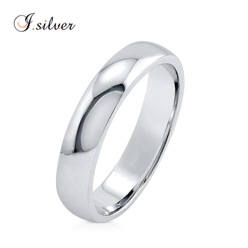 925 Sterling silver plain wedding jewellery rings for men 4mm R500427