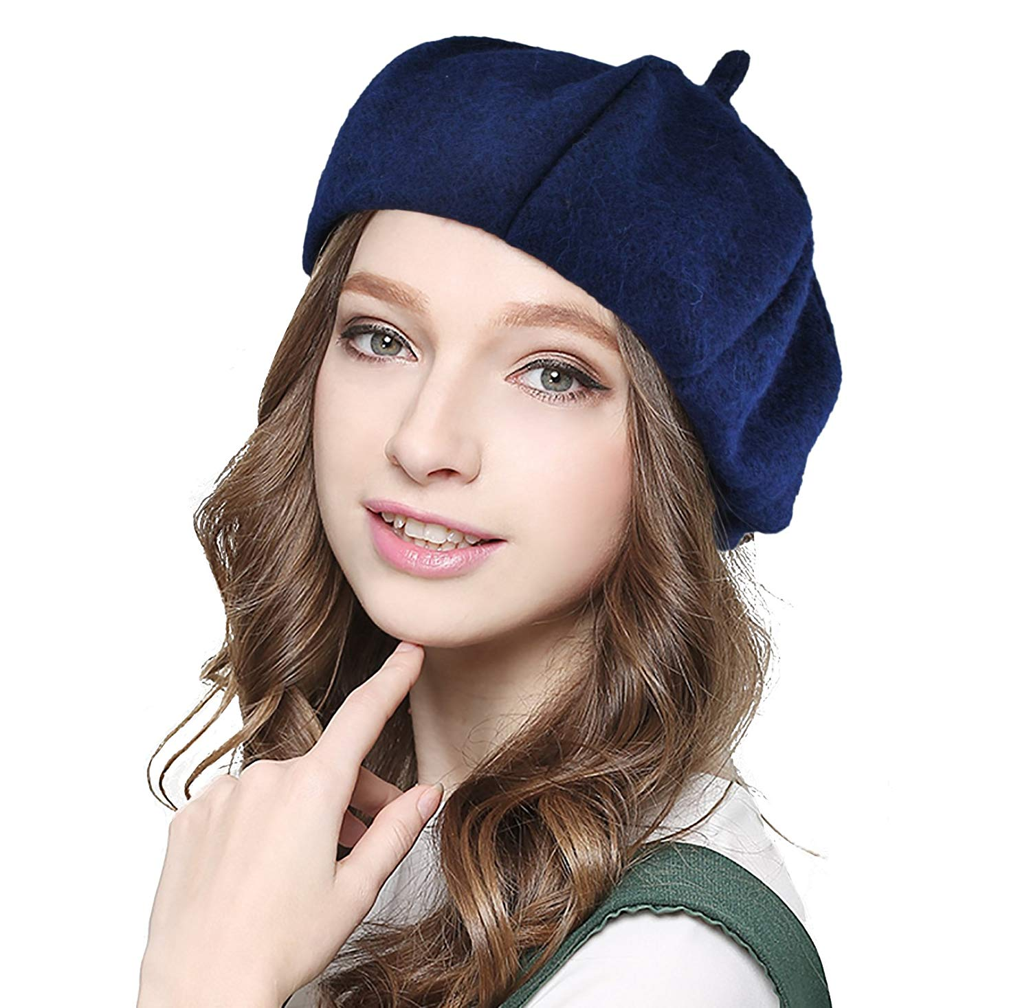 8a17fdf86b5cdd Get Quotations · EINSKEY Wool Berets for Women Solid Color French Beret Hat  Newsboy Cap