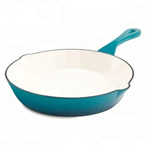 Wholesale Color Enamel Ceramic Coating Cast Iron skillet