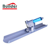 Magnesium channel bull float concrete stamp tool with rock it bracket for flatwork