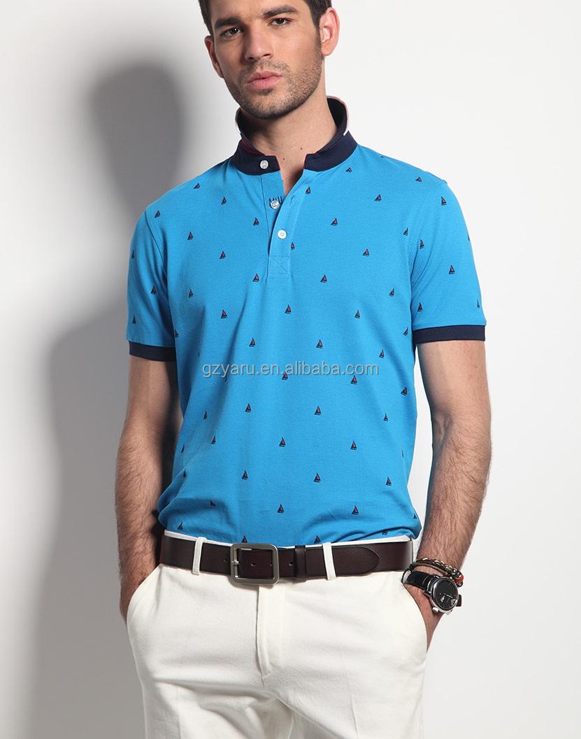 a13f01bd992afa 100%cotton T-shirt Wholesale T-shirt Distributor Blue White Stripe T ...