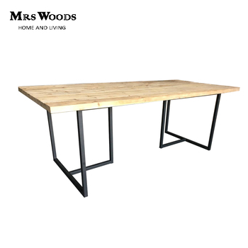 1223635fafefb Industrial rustic wood top T shaped metal legs dining table for wedding and  event