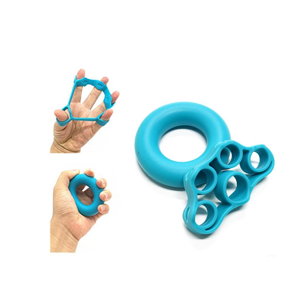 Flexibele Siliconen Handgreep Strengthener Vinger Oefening Set