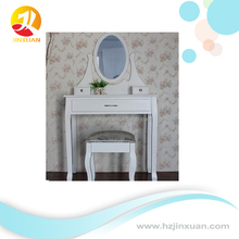 Hot Selling Classic White bedroom Dressing Table With Mirror Stool Set with drawers