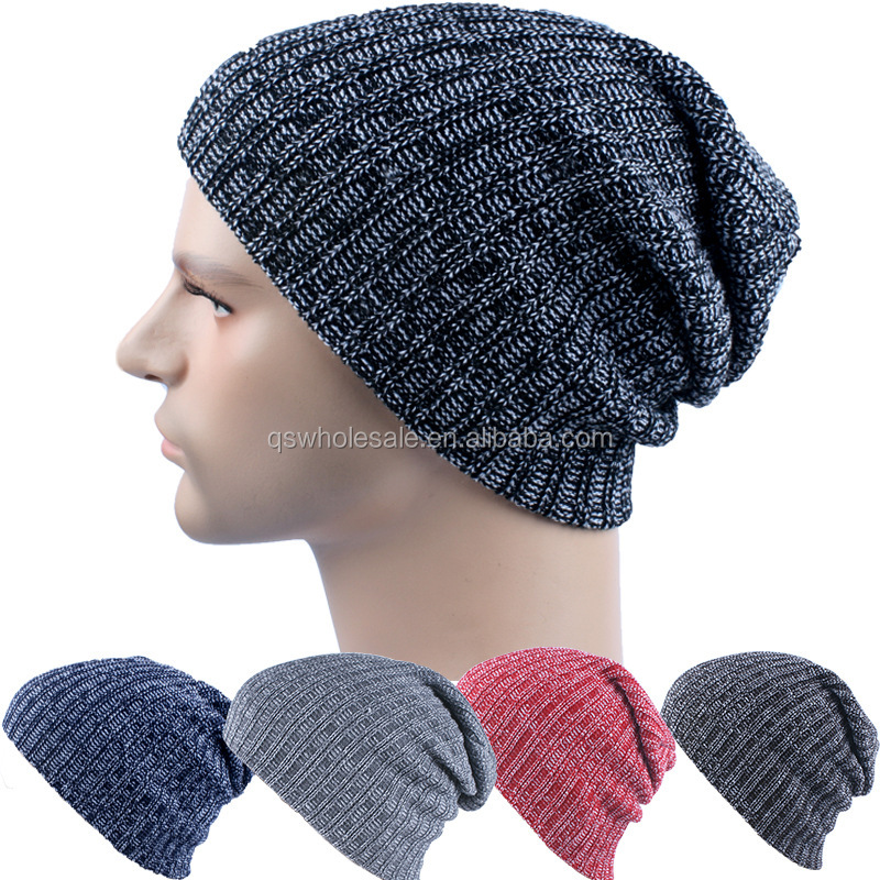 Hot Selling AB Yarn Winter Knitted Hat Factory Direct Sell Beanie Hat