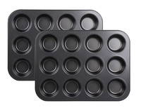 12cup round cake mould,Carbon Steel Bakeware cake mould,muffin tray cake mould