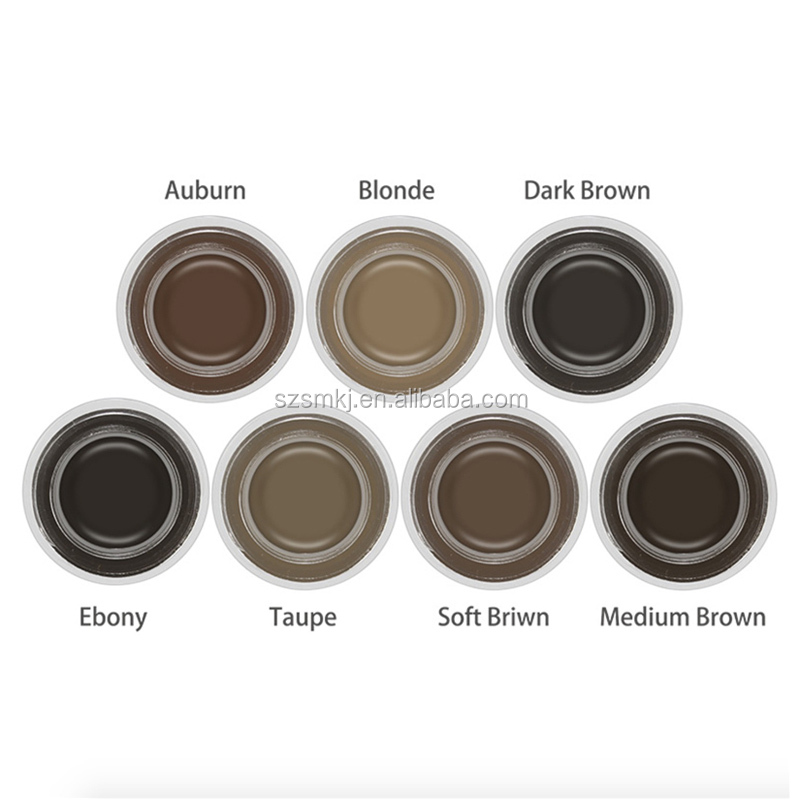 OEM wholesale cosmetics 8 colors eyebrow pomade eyebrow gel make your own brand