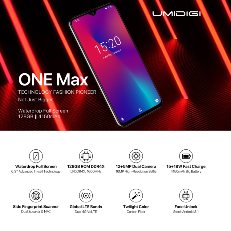 2019 New Arrival Smartphone Umidigi One Max,4gb+128gb,Global Band Dual Free  Sample Android Phone Cell Phone Unlocked - Buy Best Quality 4g Smart