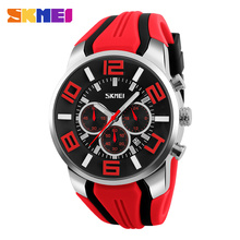 red silicone band Personality Quartz Watch big dial stopwatch discounted merchandise