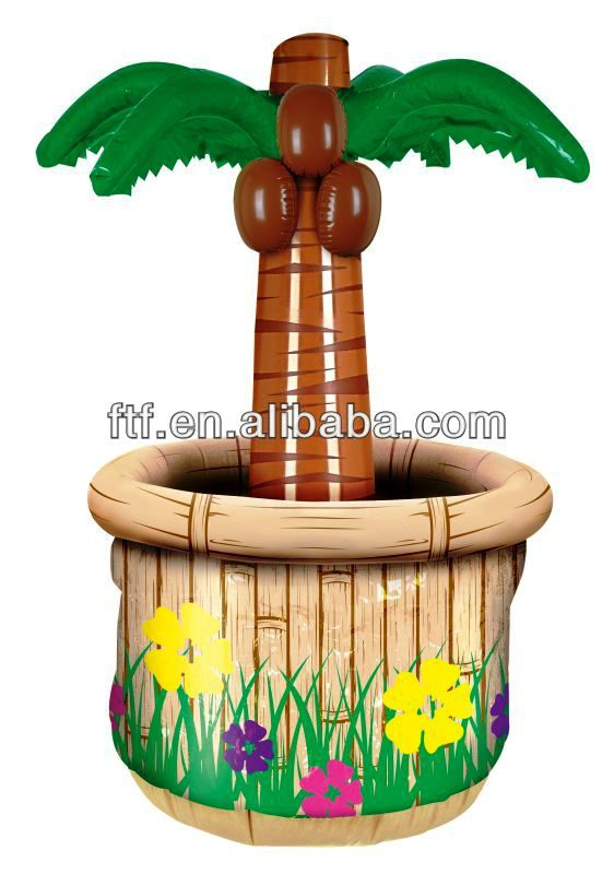 Hot Sale Promotional Inflatable Palm Tree Cooler,PVC Advertising Inflatable Palm Tree Ice Bucket