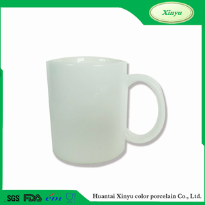 11 oz Inside and handle with Blue color sublimation ceramic mug FOR ZIBO XINYU