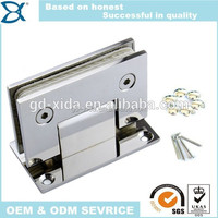 90 degree round double side shower room glass door shower hinge