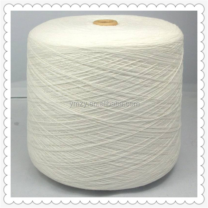 factory supply 30s 32s Raw White 100 perent Polyester Spun Knitting Yarn
