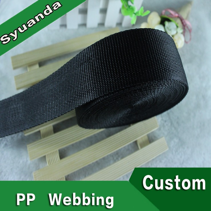 Best quality polyester webbing car straps Black Webbing Tape
