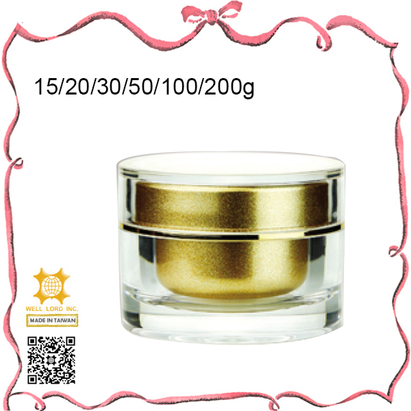 Sample empty acrylic cosmetic container empty 50g 100g jars