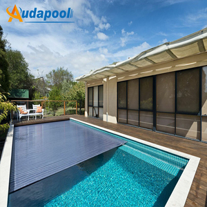 China factory directly sales promotion good quality winter mesh safety pool cover,polycarbonate pool cover slats