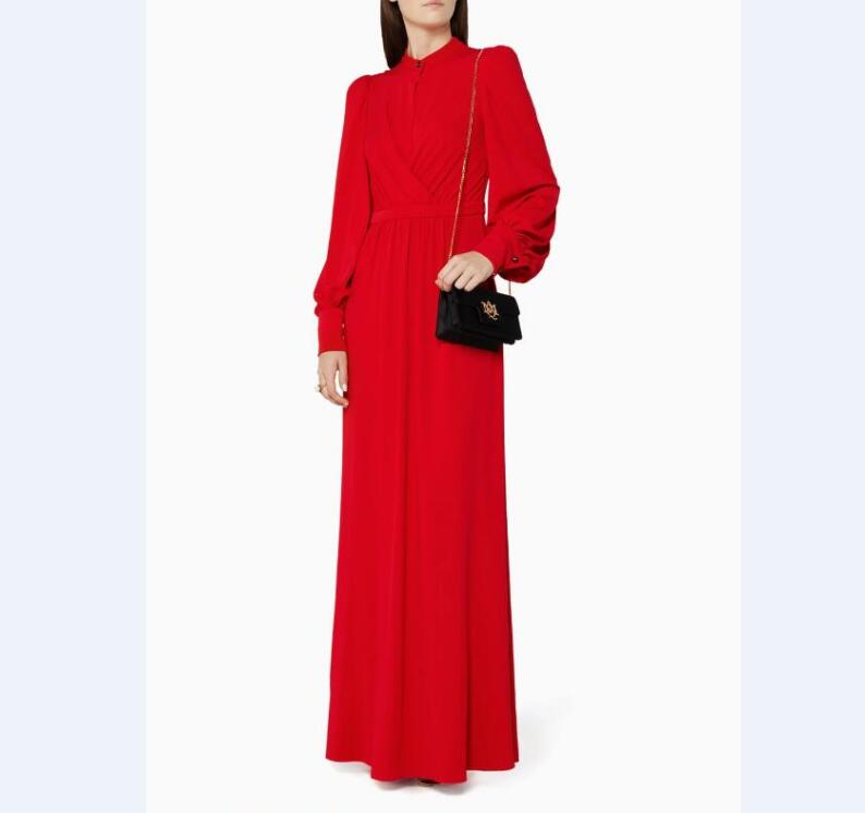 OEM New Formal Party Design Red Wrap Draped long sleeves Women s Long  Evening Dress 6b6709a30
