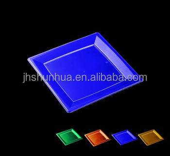 Blue Plastic Square Plate disposable plastic plate disposable tableware  sc 1 st  Alibaba & Blue Plastic Square PlateDisposable Plastic PlateDisposable ...