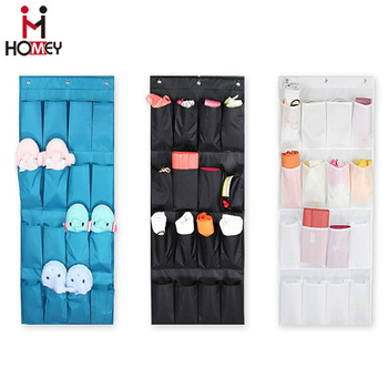 Fabric Clear Hanging Pocket Organiser Storage Organizer