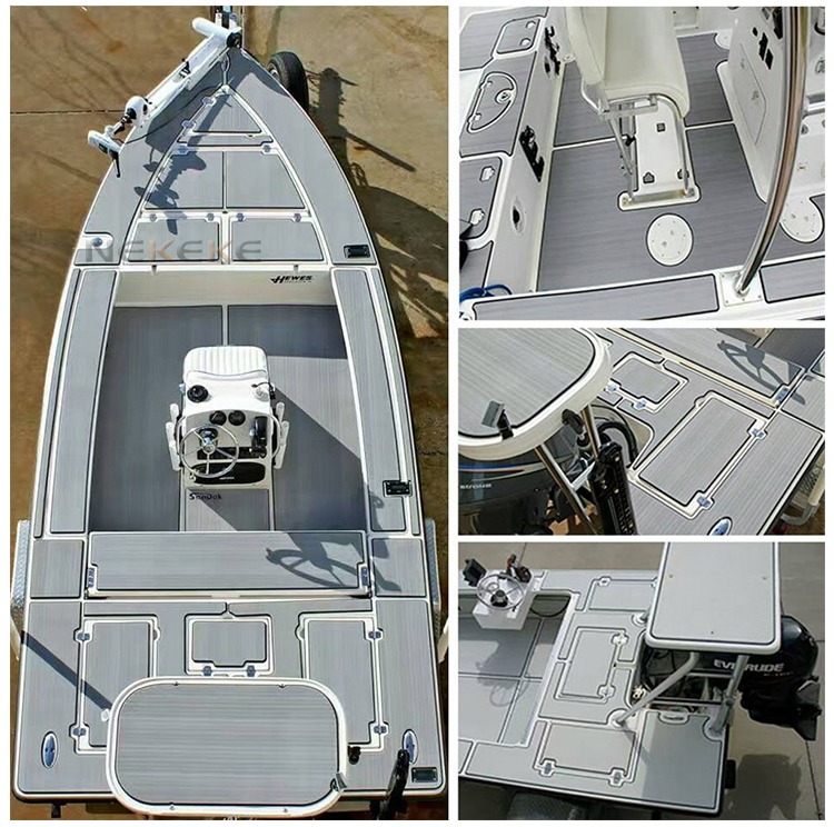 NEKEKE 6 mm thick customized durable marine EVA foam deck pad boat yacht flooring decking Mat