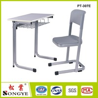 Student desk and chair/School desk and chair/Single school table and chair