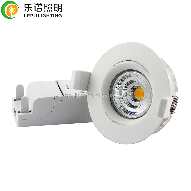 Lepu Patent design new recessed cob led downlight ip44 dimmable downlight led anti-glare actec driver Legrand