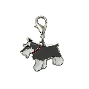 Hot Metal Pet Accessories Dog Tag Disc Pet Collar Pendant with lobster clip enamel jewelry
