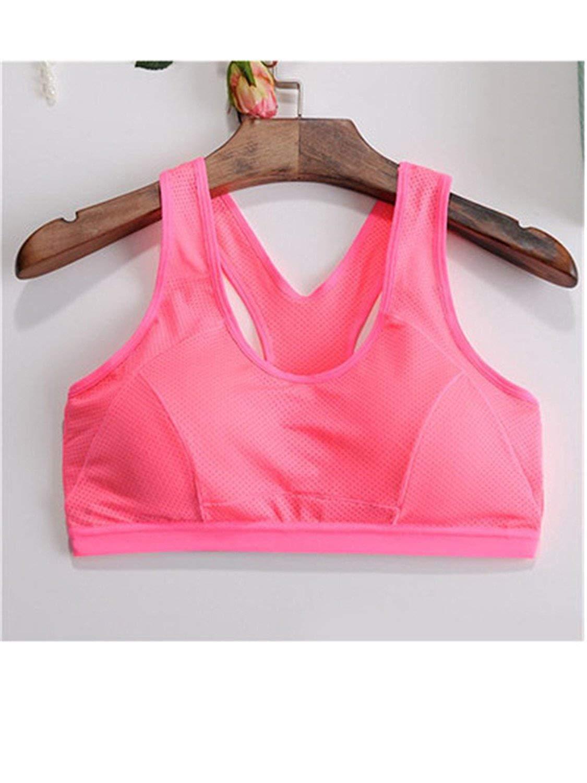 2a1381b72f Get Quotations · Gomis Women s Yoga Sports Bra Vest Short Running Bra Top  Sports T-Shirt Fitness