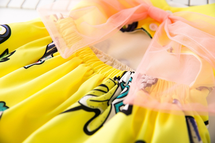 cute fashion yellow bow baby couture skirt dresses 6 month for sale
