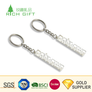 Made in china cheap stainless steel printing waterproof epoxy football keychain for promotional gift