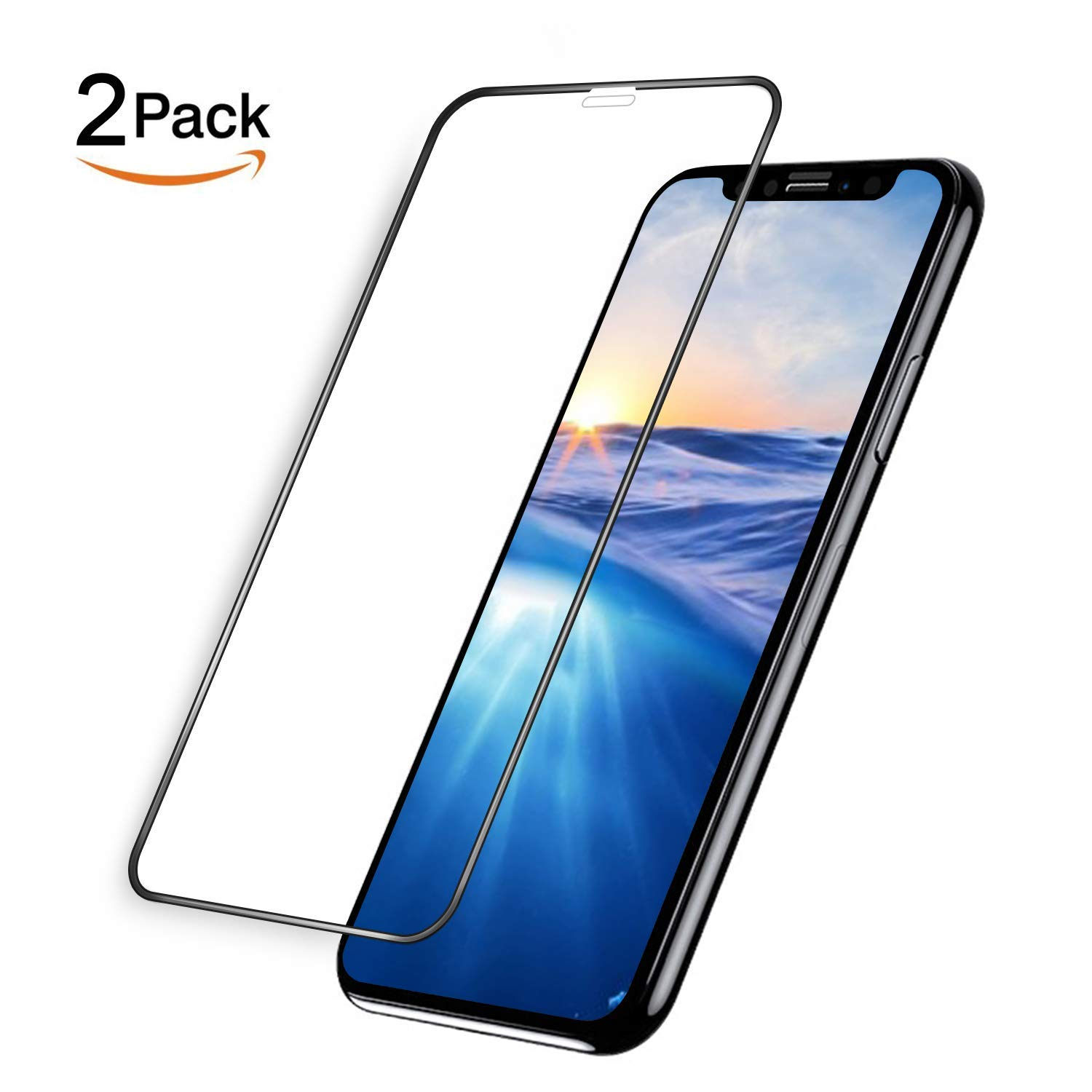 Screen Protector for iPhone Xs Max,Tempered Glass Screen Protector for iPhone Xs Max 6.5 inch[2 Pack]