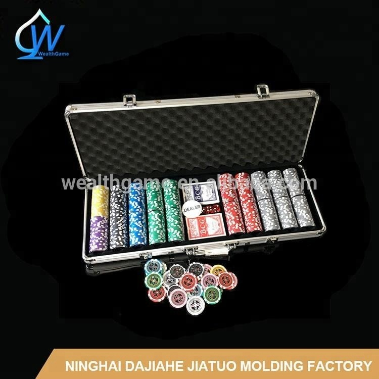 500pcs 11.5g Dice Poker Chip Set / 14g Clay Poker Chip Set