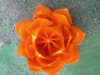 Orange origami lotus buy origami flowers product on alibaba orange origami lotus mightylinksfo