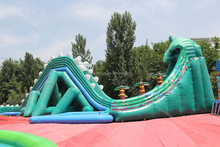 giant dragon inflatable water slide,inflatable dry & wet slide for sale