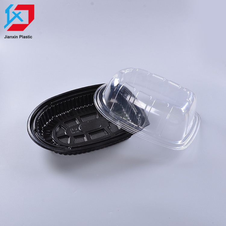 Hot sale customized disposable plastic biodegradable blister food packaging food tray containers for chicken
