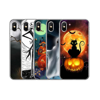 Low Price Customize Logo OEM Halloween Series Printing Painted TPU Mobile Case Covers For iPhone X XS