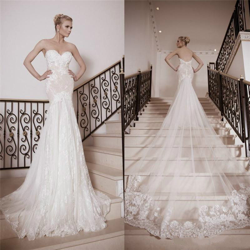 Princess Sweetheart Mermaid Wedding Dresses 2016 Lace