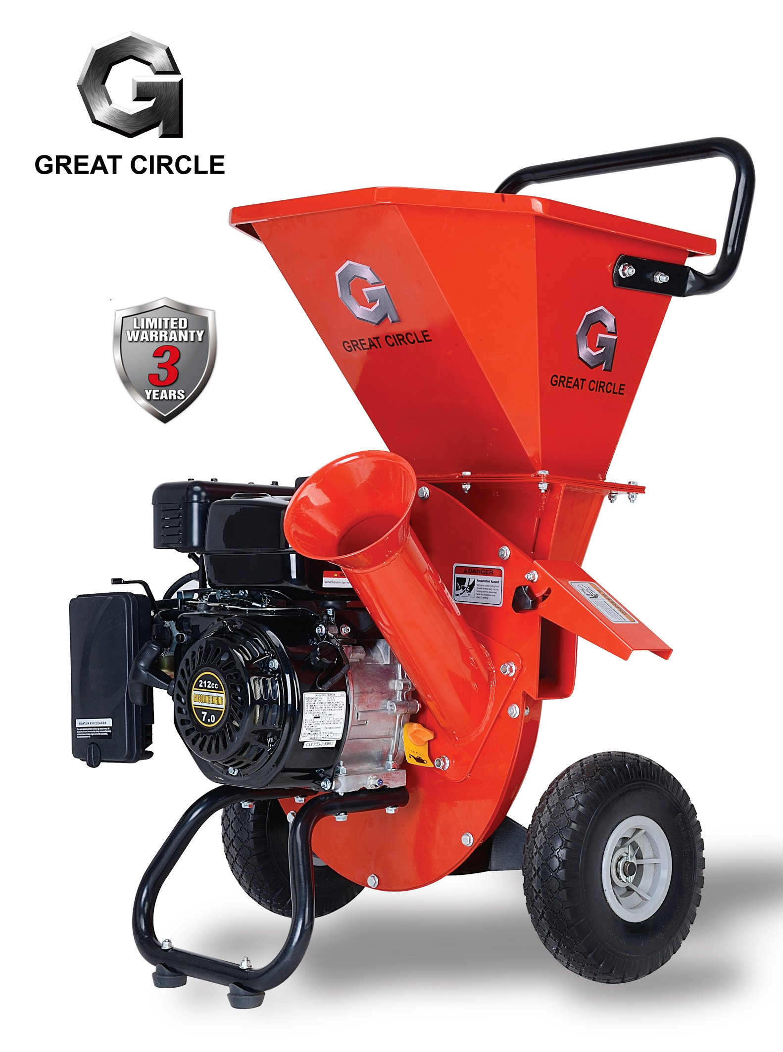 Get Quotations Greatcircleusa 7hp Heavy Duty 212cc Gas Ed 3 In 1 Multi Function Pro Wood Chipper