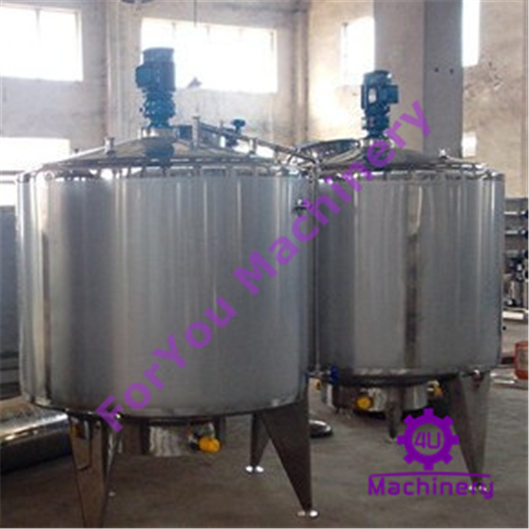 Big Stainless Steel Juice Syrup Mixing Tank with Agitator
