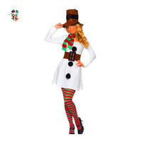 Womens White Snowman Sexy Christmas Party Costumes HPC-2962