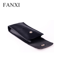 FANXI Custom High Quality Soft PU Leather Phone Bracelet Storage Bag Watch Package Pouch Gift Bags with Button PU Jewelry Pouch